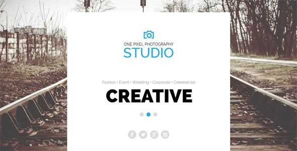 One Pixel Photographer Template - Personal Muse Templates