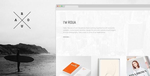 ROUA - Hipster Portfolio & Blogging WP Theme - Portfolio Creative