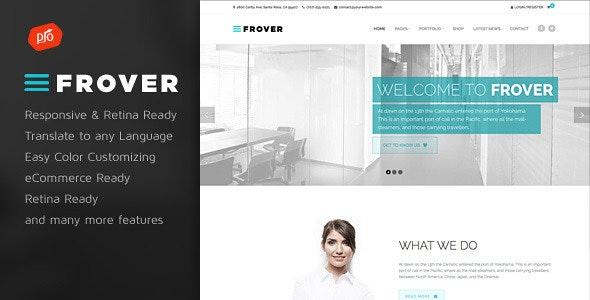 Frover - Muti-Purpose WordPress Theme - Business Corporate