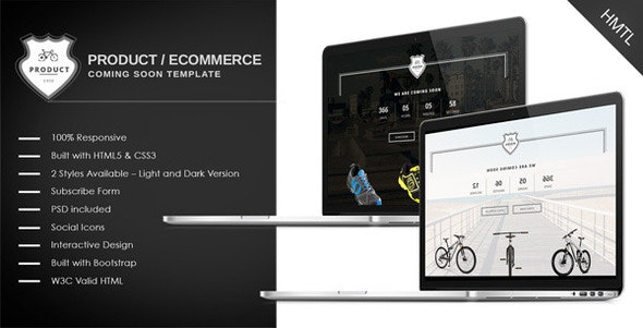 Ecommerce/Product Coming Soon Template - Under Construction Specialty Pages