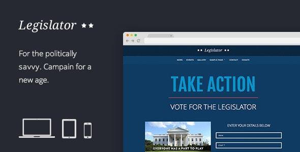 Legislator: Political Campaign Template - Political Nonprofit