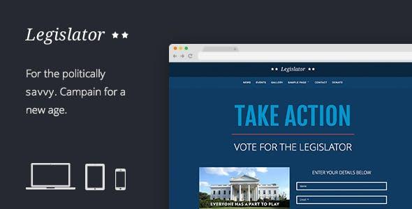 Legislator: Political Campaign Template