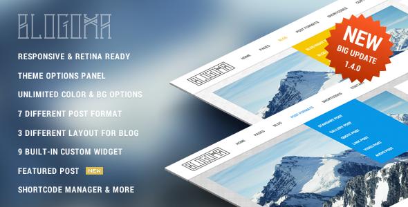 Blogoma - Sweetest Simple Blog Theme - Personal Blog / Magazine