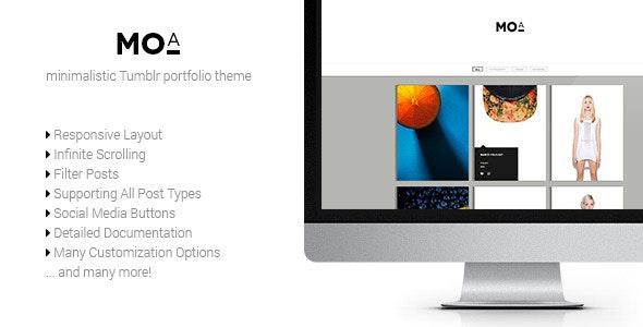 Moa - Responsive Portfolio Tumblr Theme - Tumblr Blogging
