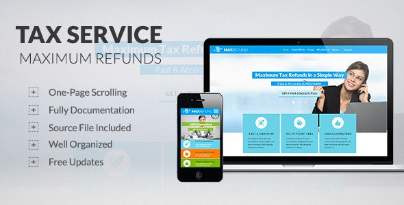 Tax Service - Max Refunds - Muse Template - Corporate Muse Templates