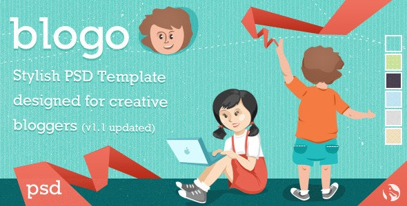 Blogo - Stylish PSD Template for Creative Bloggers - Creative Photoshop