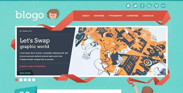 Blogo - Stylish PSD Template for Creative Bloggers
