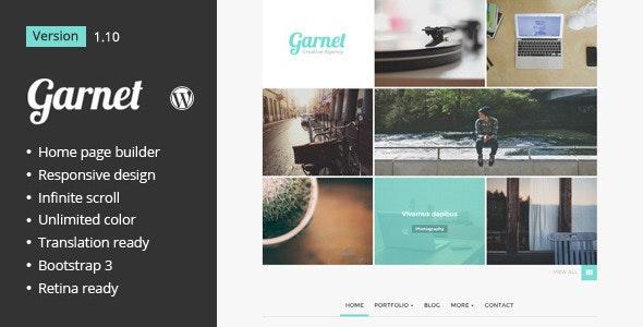 Garnet Creative Portfolio WordPress Theme - Portfolio Creative