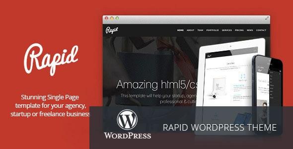 Rapid - One Page WordPress Theme - Creative WordPress