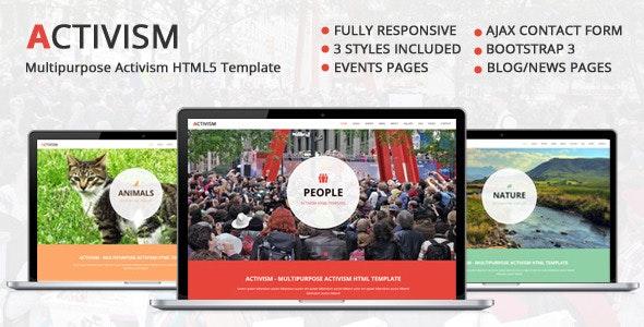 Activism - Multipurpose HTML5 Template - Activism Nonprofit