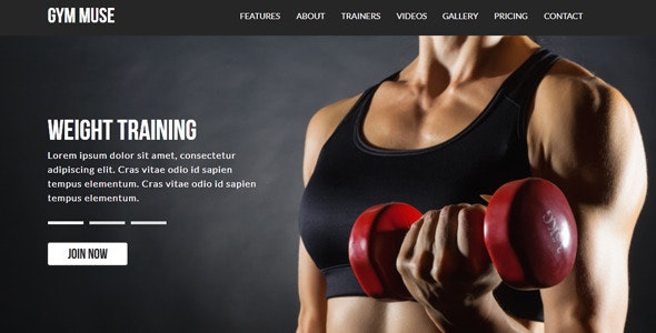 Gym | Muse Template - Corporate Muse Templates