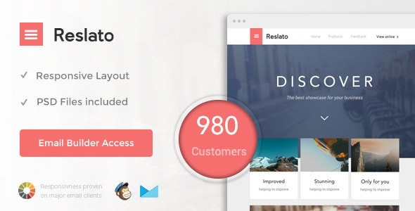 Resalto - Responsive Email + Themebuilder Access - Email Templates Marketing