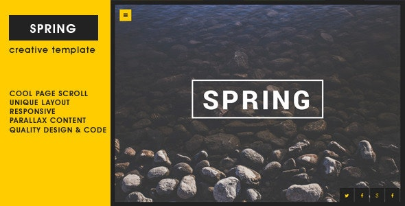 Spring - Creative One Page Template - Portfolio Creative