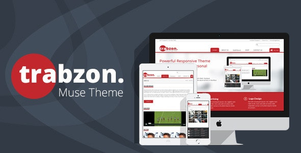 Trabzon Muse Template - Corporate Muse Templates