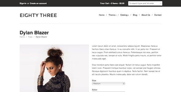 Eighty Three - Responsive Shopify Theme