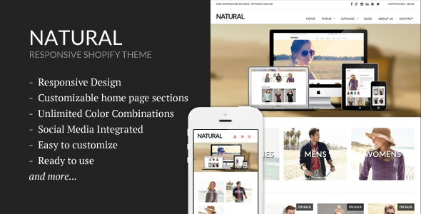 Natural - Responsive Shopify Theme - Shopify eCommerce
