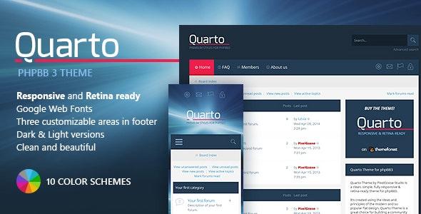 Quarto —phpBB3 Responsive & Retina Ready Theme - PhpBB Forums