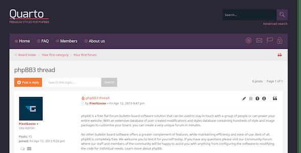 Quarto —phpBB3 Responsive & Retina Ready Theme
