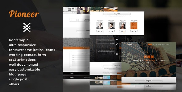 Pioneer - Single Page Html5 Template - Creative Site Templates