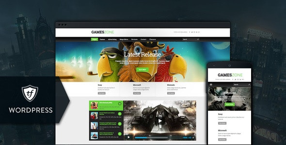 Games Zone - Gaming WordPress Theme - News / Editorial Blog / Magazine