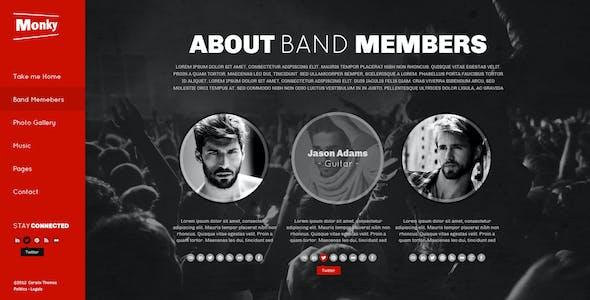 Monkey Music Band PSD Theme