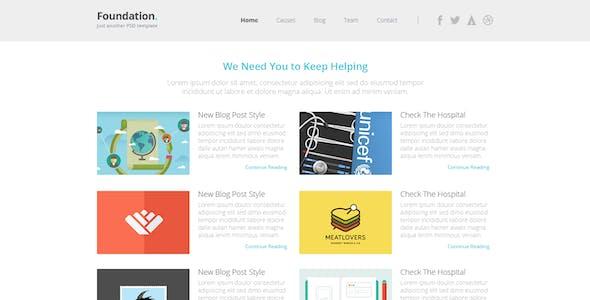 Foundation - Nonprofit Multipurpose HTML5 Template