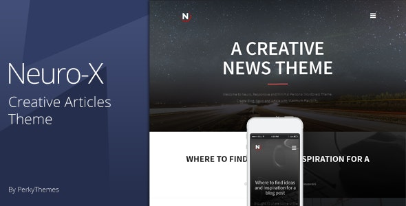Neuro-x | Blogging Minimal Theme - Personal Blog / Magazine