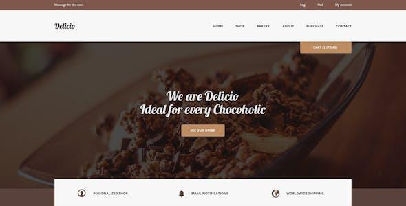 Delicio - Bakery & Food eCommerce HTML Template