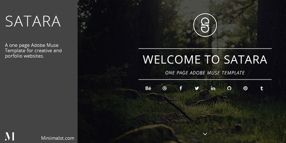 Satara - Creative One Page Adobe Muse Template - Creative Muse Templates