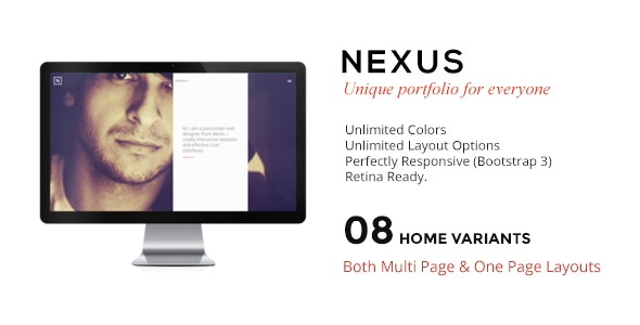 NEXUS - Multi Layout Portfolio for All Creatives - Portfolio Creative