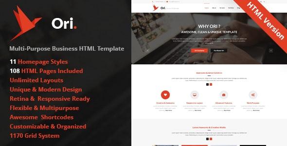 Ori – Multi-purpose Business HTML Template - Business Corporate