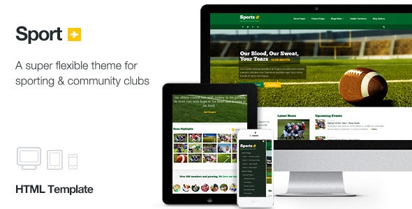 Sport - Sporting Club Template - Nonprofit Site Templates
