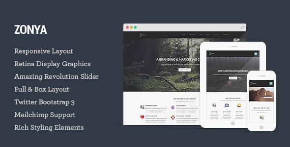 Zonya - Multipurpose Responsive HTML5 Template - Creative Site Templates