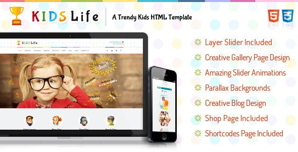 Kids Life - Children HTML Template - Children Retail