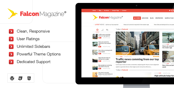 Falcon - Responsive WordPress Magazine Theme - Blog / Magazine WordPress