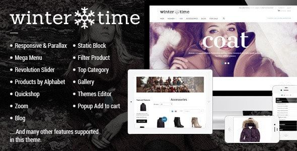 Responsive Shopify Theme - WinterTime - Fashion Shopify