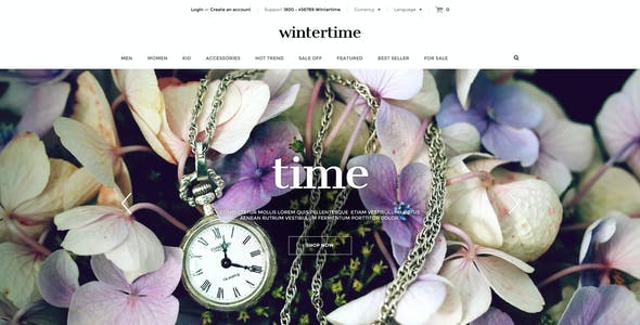 Responsive Shopify Theme - WinterTime