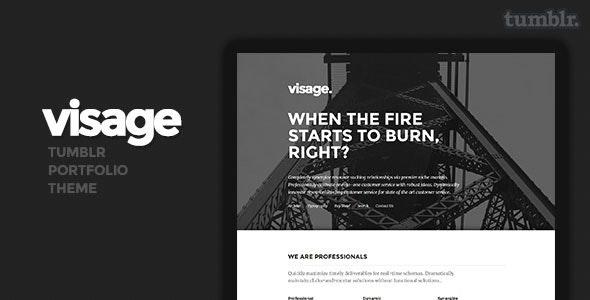 Visage Tumblr Theme - Portfolio Tumblr