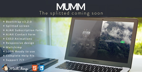 MUMM | The Splitted Coming Soon - Under Construction Specialty Pages