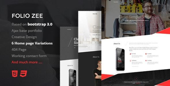 Folio Zee -  Single Page HTML5 Template - Creative Site Templates