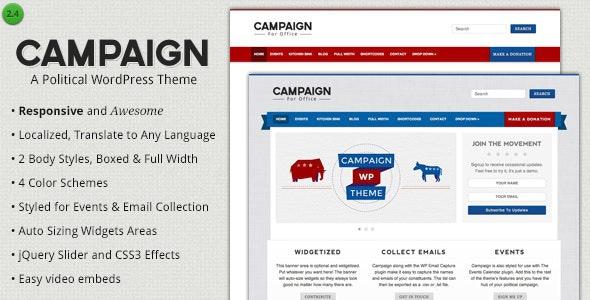 Campaign - Political WordPress Theme - Political Nonprofit