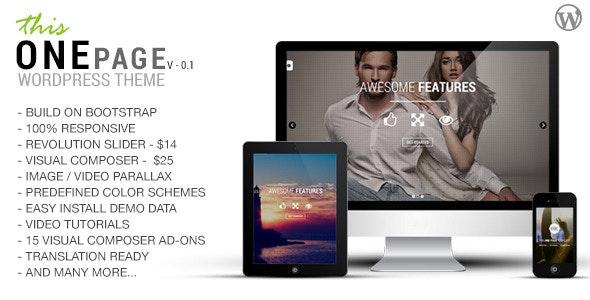 This One - One Page Responsive WordPress Theme - Creative WordPress