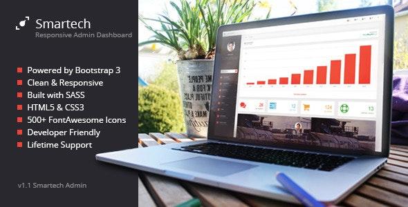 Smartech - HTML5 Admin Dashboard Template - Admin Templates Site Templates