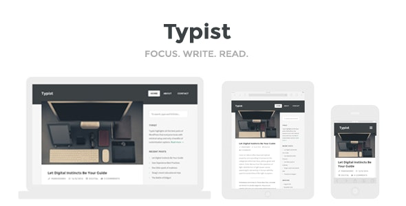 Typist - WordPress Theme for Serious Writers - Personal Blog / Magazine