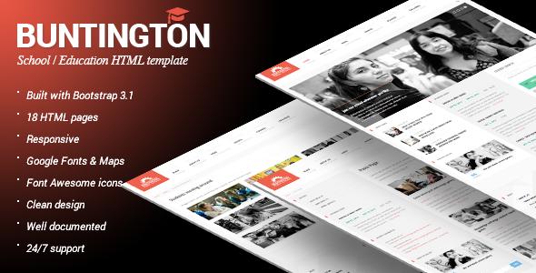 Buntington - Education HTML Template - Nonprofit Site Templates