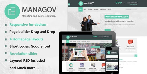 Managov Multi-Purpose WordPress Theme - Business Corporate