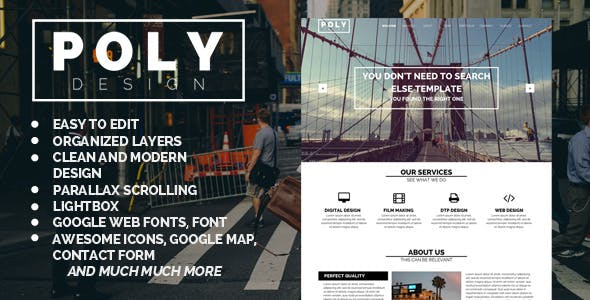 Poly - One Page Muse Template