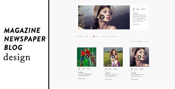 Dear Three - Creative / Magazine / Blog PSD Design