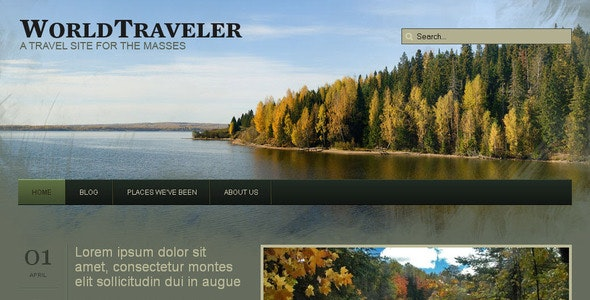 WP World Traveler - Travel Wordpress Theme - Personal Blog / Magazine