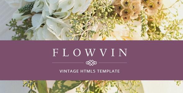 FlowVin - One Page Vintage HTML5 template - Portfolio Creative